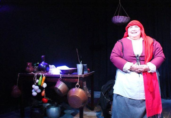 Imagen del monólogo teatral Teresa Panza, de Brígido A. Redondo y protagonizado por Lulú Ávila. (Milenio Novedades)