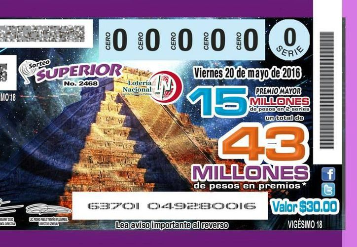 El premio mayor de la Lotería Nacional cayó en Mérida, por tercera vez en lo que va del año. La imagen, de un posible diseño de billete con el Castillo de Chichén Iztá, está utilizada sólo como contexto. (Archivo/SIPSE)