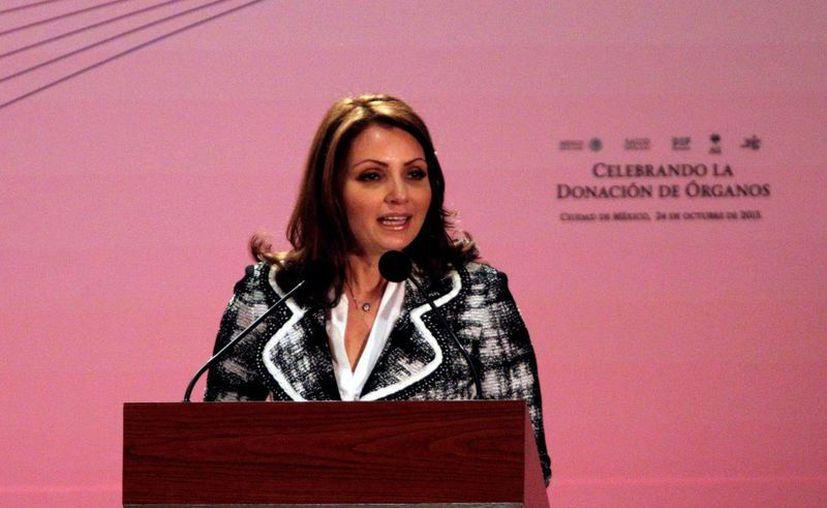 La esposa del Presidente destacó que cada órgano 'es una esperanza para un mexicano'. (Notimex)