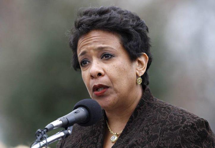 La titular del Departamento de Justicia de EU, Loretta Lynch, no indicó si Washington pedirá otra vez la extradición de Joaquín Guzmán Loera, capturado este viernes en Sinaloa. (AP)