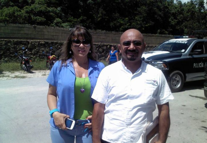 María José López Canto y Roger Mauricio Barbosa Vega, de la Comisión  de Derechos Humanos.