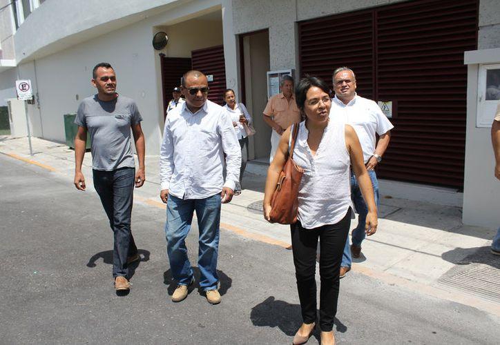La representante de Somos Tus Ojos, Fabiola Cortés Miranda, acudió a presentar la denuncia formal. (Joel Zamora/SIPSE)