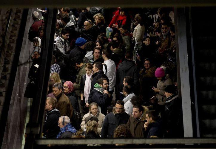 Las estaciones del Metro de Madrid lucen saturadas. (Agencias)