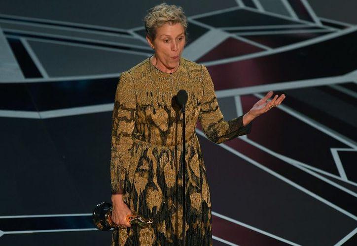 """Frances ganó el premio por su participación en la película, """"Three Billboards Outside Ebbing, Missouri"""". (Foto: Agencia)"""