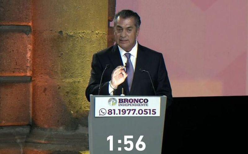 'El Bronco'  aseguró que su propuesta asustó a los tres candidatos a la presidencia. (Foto: Internet)