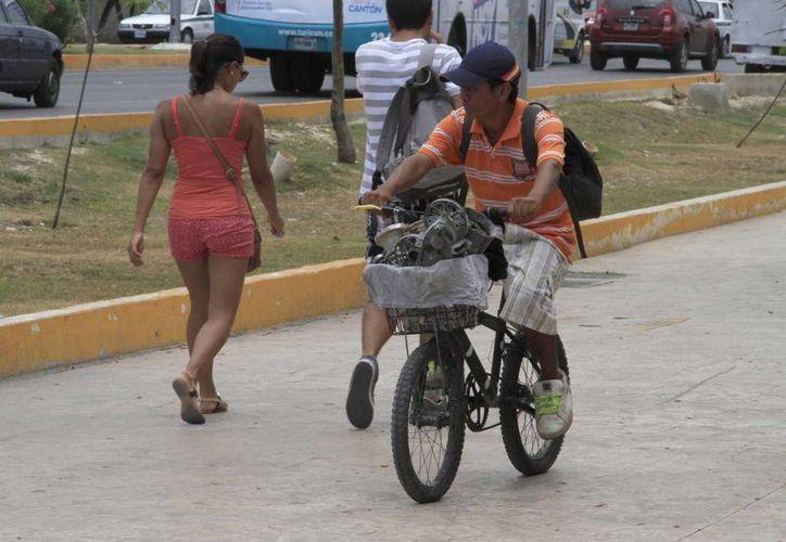 El mes pesado tres ciclistas fueron víctimas de un accidente de tránsito. (Tomás Álvarez/SIPSE)