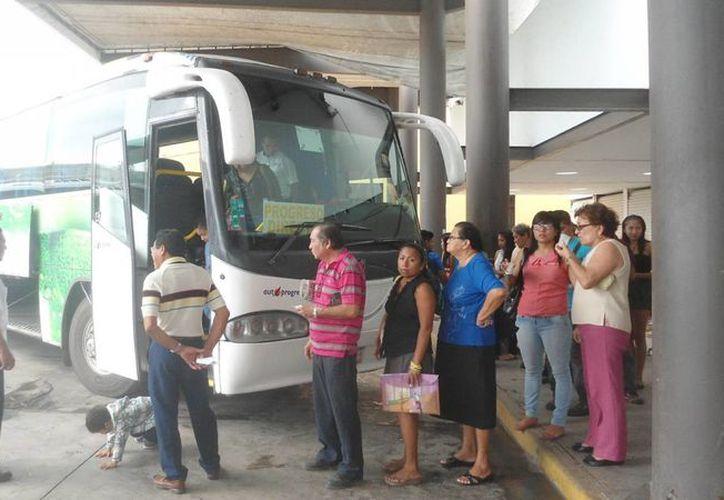 Varias personas compraron boletos en paquetes de 10 o hasta 20 viajes correspondientes a la ruta Mérida-Progreso. (Milenio Novedades)