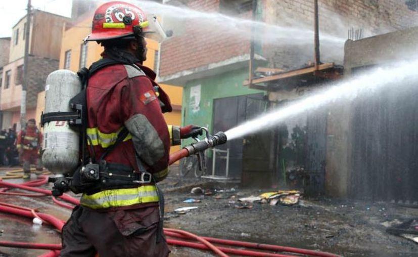 Se registró un incendio en un edificio de la ciudad peruana de Chiclayo.  (Contexto/Interent).