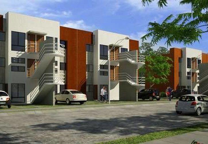 Prototipo del desarrollo Parque Bahía Real en Cancún. (homex.com.mx)
