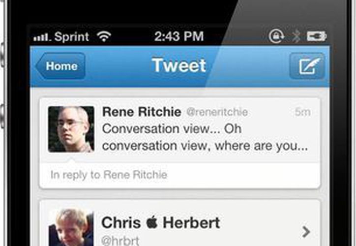 Twitter informó que se está actualizando para aprovechar el iOS 8. (macstories.net)