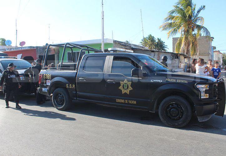 Agentes estatales y municipales intervinieron en la reyerta. (Milenio Novedades/Gerardo Keb)