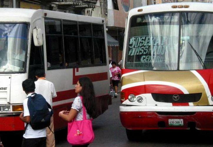 El PAN considera que el servicio de transporte es deficiente en Mérida. (SIPSE)