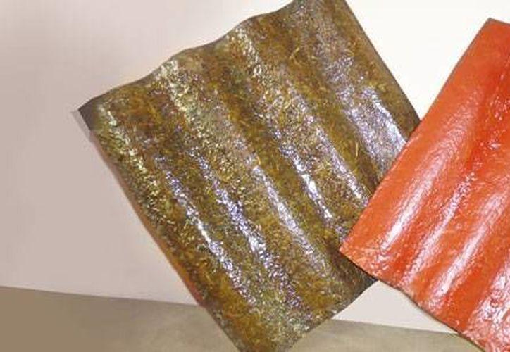 Los creadores de las láminas afirman que no presentan un factor de riesgo para la salud al estar hechas con materiales orgánicos. (conacytprensa.mx)