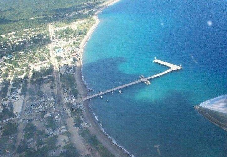 De nuevo ha vuelto el orden en el penal de Islas Marías. La imagen es de una toma área en la zona del embarcadero. (Cortesía)