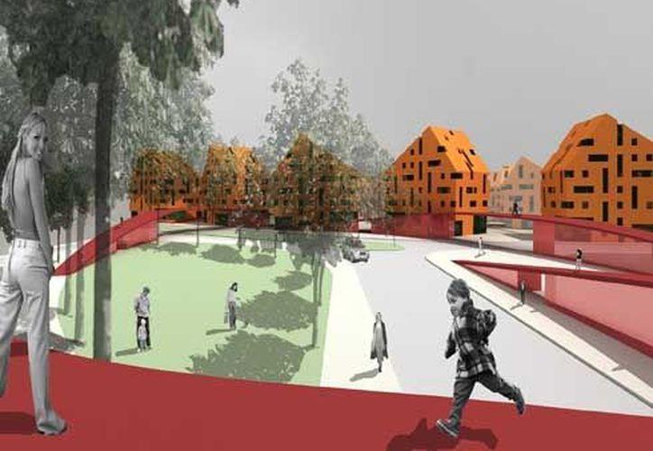 Proyecto de urbanización de la ciudad de Lillestrom, Noruega. (topia-projects.com)