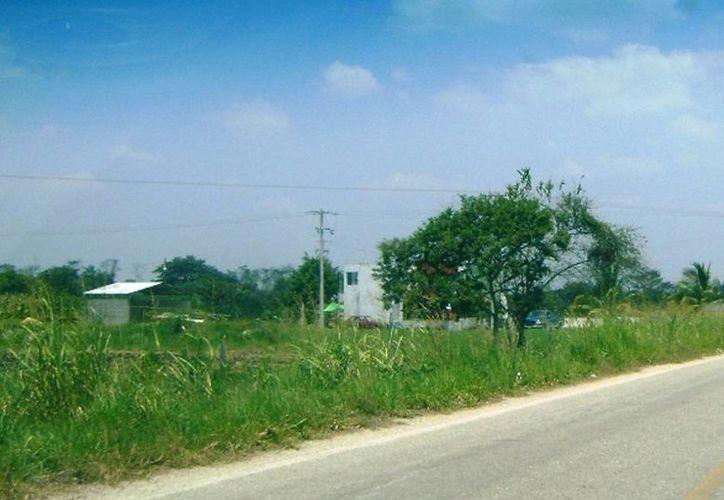 Imagen exterior del predio principal del rancho en donde ocurrió el doble asesinato, en Candelaria, Campeche. (Novedades de Campeche)