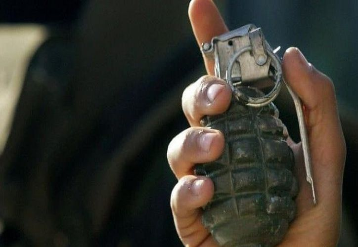 La 'presunta granada' fue lanzada la tarde de hoy, en la avenida Cancún de este municipio. (SIPSE)