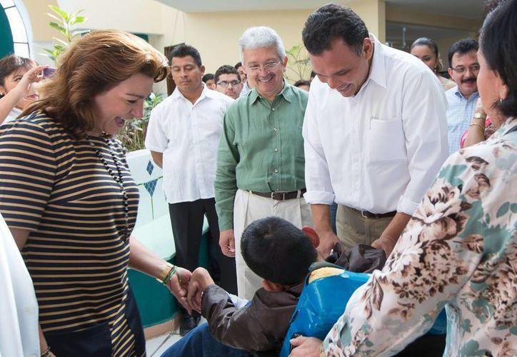 El Gobernador entregó obras de mantenimiento y conservación en el Caimede por más de 4.3 mdp para brindar comodidad y espacio digno a las niñas y niños que ahí viven. (Cortesía)