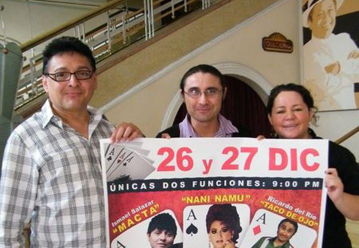 """Actores y organizadores prometen mucha diversión en """"Tercia de Ases"""". (SIPSE)"""
