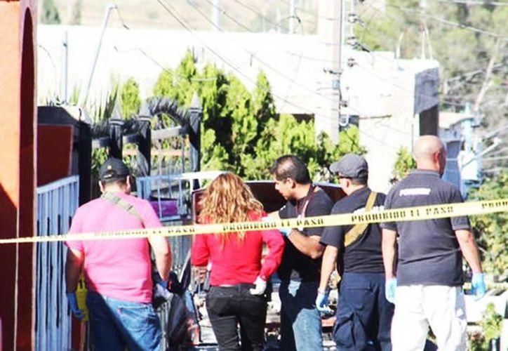 Un comando de hombres armados mató a un hombre y a su perro en Chihuahua. Imagen del lugar de los hechos en Ciudad Juárez. (Juan José García Amaro/Milenio Digital)