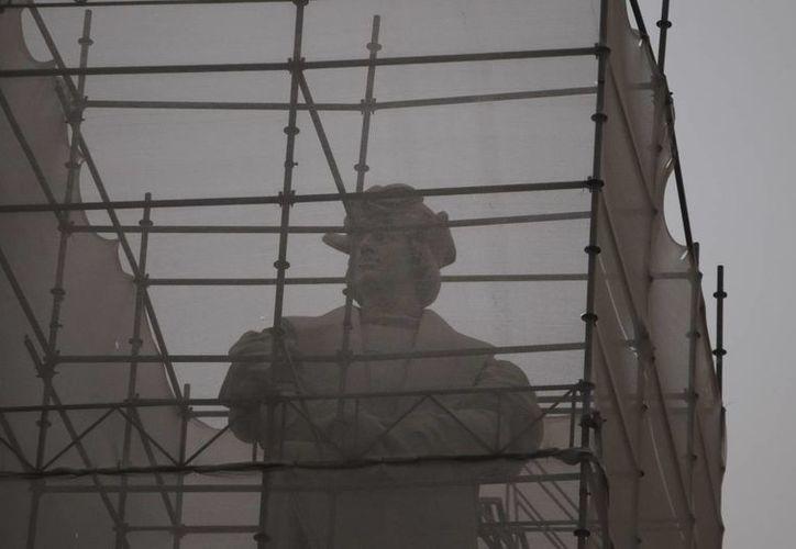 En la imagen, la estatua de Cristóbal Colón en Buenos Aires que ha causado polémica al ser desmontada. (Archivo/EFE)