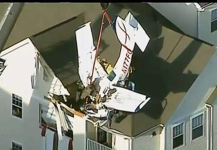 Durante el vuelo Philadelphia-Manassas, los hombres revelaron que se produjo una avería en el motor de la aeronave. (YouTube)