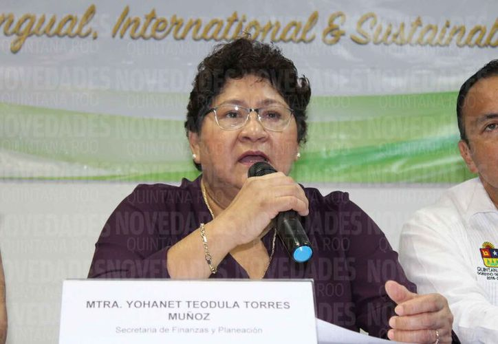 Yohanet Torres Muñoz recomendó a los quintanarroenses estar regularizados en el pago de impuestos. (Adrián Barreto/SIPSE)