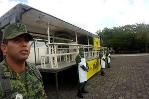 Ejército de Cancún exhibe el equipo del Plan DNIII