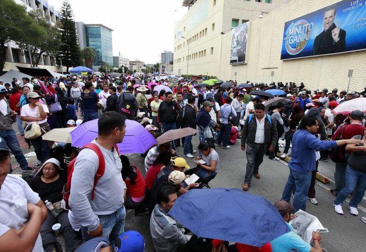 Los maestros anunciaron movilizaciones para el 1 de septiembre con motivo del Informe de Gobierno del presidente Enrique Peña Nieto. (Notimex)