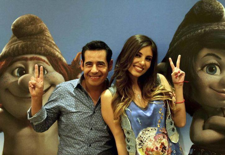 Katy Perry hace la voz de uno de los personajes en inglés, y Gloria Aura y Yordi Rosado (en la foto) hacen lo mismo pero en español. (Notimex)