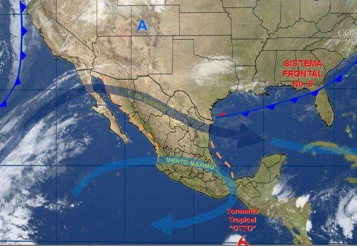 El frente frío número nueve y la tormenta Otto mantedrán ambiente frío en gran parte del país. (Conagua)