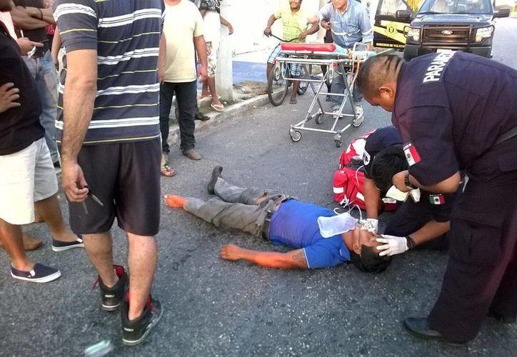 Un ciclista fue atropellado este sábado en la avenida 31 de Ciudad Caucel. (Uziel Góngora/Milenio Novedades)