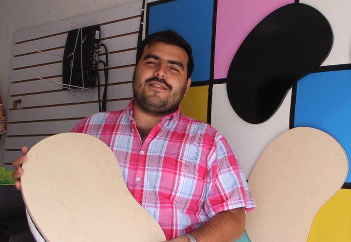 Ricardo González Alpuche comenzó su negocio hace cuatro años. (Milenio Novedades)