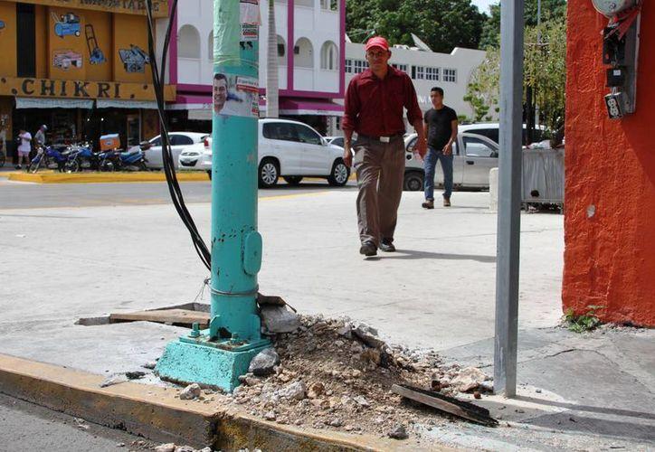 Los paraderos que tengan algunos daños en su infraestructura también serán atendidos.  (Ángel Castilla/SIPSE)