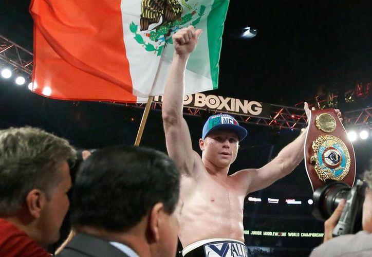 Saúl 'Canelo' Álvarez es nuevo campeón de peso medio de la Organización Mundial del Boxeo (OMB). (AP)