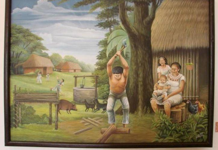 En las pinturas se puede observar el progreso que han adquirido casi de forma autodidacta. (Manuel Salazar/SIPSE)