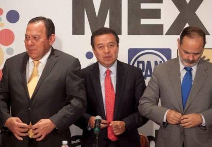 Jesús Zambrano, César Camacho y Gustavo Madero, dirigentes del PRD, PRI y PAN, respectivamente. (Agencias/Archivo)