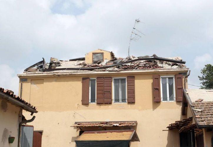 Una tormenta de aire y granizo azotó las provincias de Módena y Bolonia, en la región italiana de Emilia Romagna. (EFE)