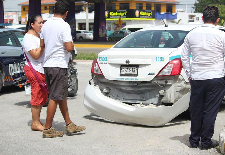 Se tiene un promedio de 10 accidentes vehiculares por cada 24 horas en Playa del Carmen. (Daniel Pacheco)