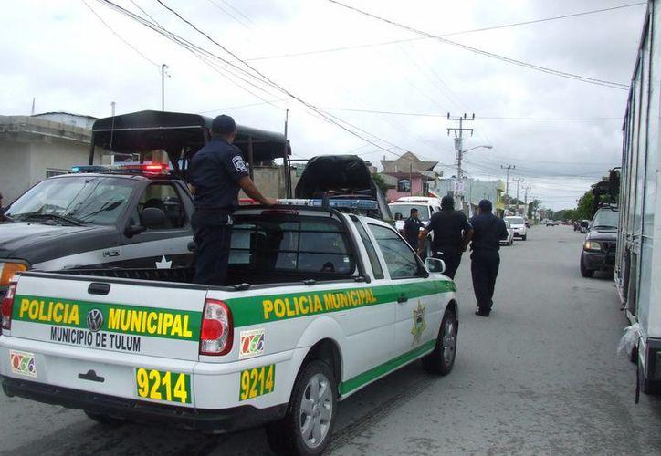 Policías  municipales y estatales realizarán recorridos en la cabecera municipal. (Rossy López/SIPSE)