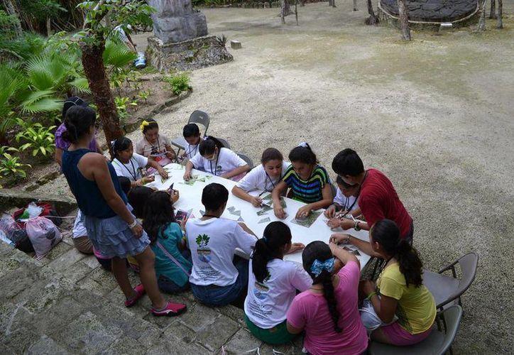 Seis fueron los temas expuestos sobre la conservación del medio ambiente, con la participación de niños y jóvenes. (Redacción/SIPSE)