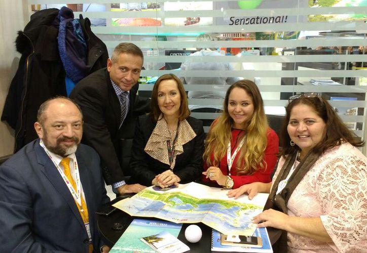 Autoridades del sector turístico en el Estado y México, participan en World Travel Market, en Londres. (Foto: Redacción)