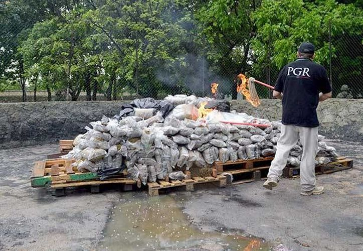 La quema se llevó a cabo con el Calendario Nacional de Incineración de Narcóticos. (Imagen ilustrativa/Internet)