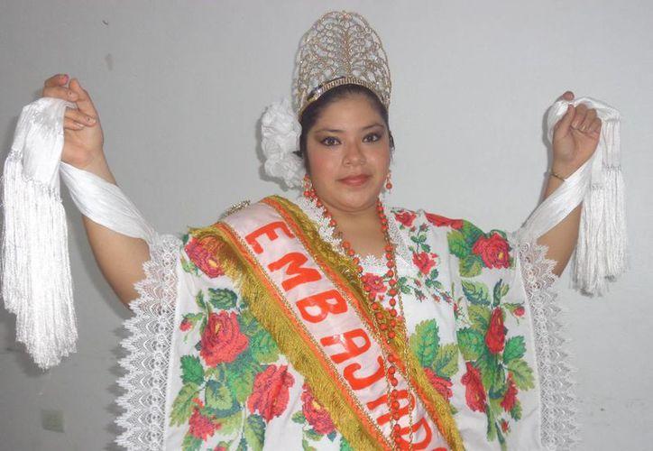 Mariana Saraí Pool Castro, embajadora de las fiestas. (Manuel Pool/SIPSE)