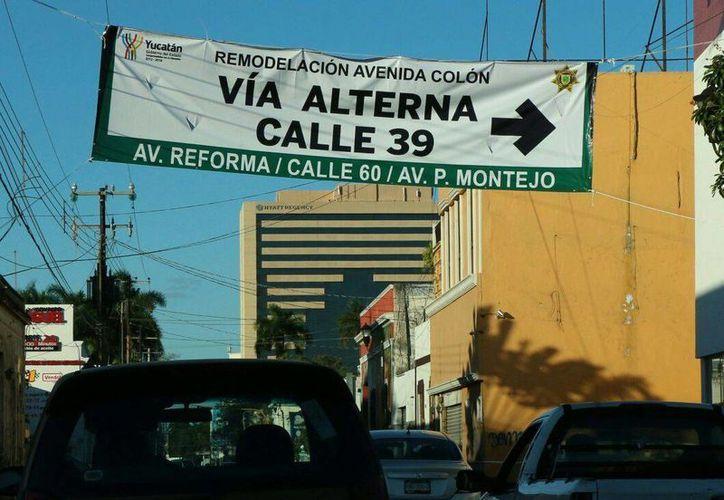 Varias calles del Centro Histórico de Mérida serán cerradas a la circulación desde este viernes debido a la clausura del Mérida Fest, cuyo último día es este domingo 22. También ha habido cambios en otras partes de la ciudad por remodelaciones, como se aprecia en la foto. (SIPSE)