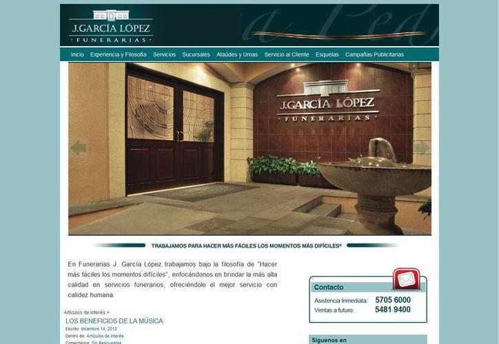 J. García López tiene 34 salas de velación en ocho sucursales. (jgarcialopez.com.mx)