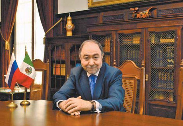 El embajador de Rusia en México, Eduard Malayán, espera que el intercambio comercial entre ambos países supere los 2.5 mil millones de dólares para finales de este año.  (Foto: Milenio)