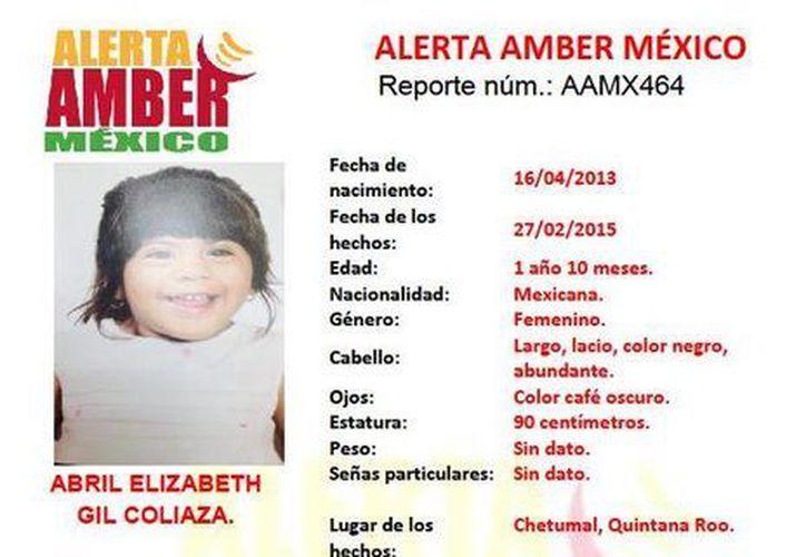 La Alerta Amber México se activó por la desaparición de la menor y su madre. (Twitter/AlertaAmberQR)