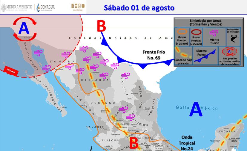 Clima Cancún Quintana Roo 1 de agosto de 2020 (Conagua)
