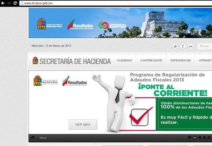 El ciudadano puede pagar en línea con el nuevo portal. (Cortesía/SIPSE)